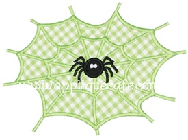 Spider Web Applique Design