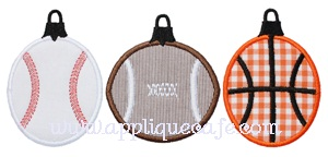 Sports Ornaments Applique Design