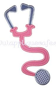 Stethoscope Applique Design