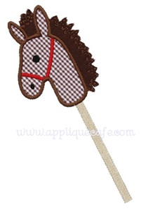 Stick Horse Applique Design