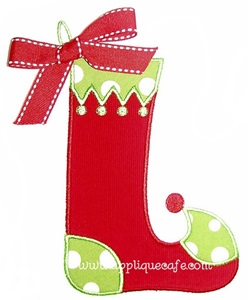 Christmas Stocking Applique Design