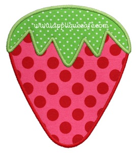 Strawberry 2 Applique Design