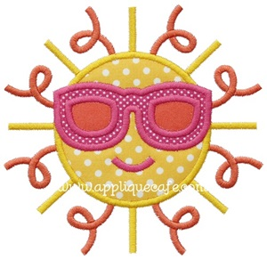 Sun Applique Design
