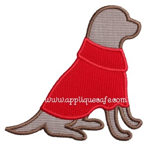 Sweater Dog Applique Design