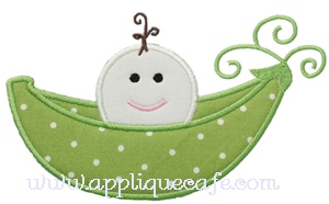 Sweet Pea Applique Design