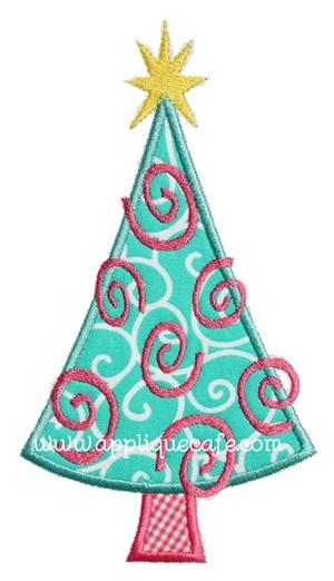 Swirly Christmas Tree Design