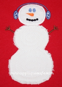 Swirly Snowman Applique Design