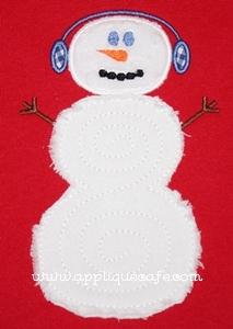 Swirly Snowman Applique Design