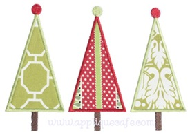 Tall Tree Trio Applique Design
