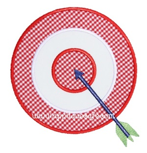 Arrow and Target Applique Design