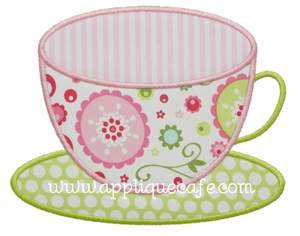 Teacup 2 Applique Design