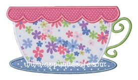 Teacup Applique Design