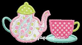 Teacup and Teapot Applique Design