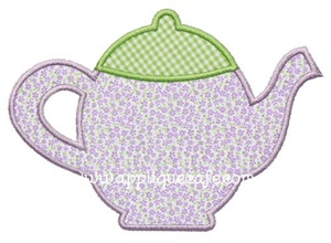 Teapot 2 Applique Design