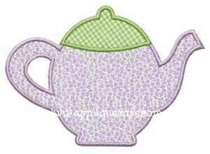 Teapot 2 Applique Design