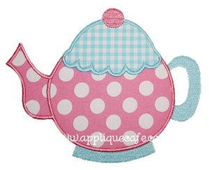 Teapot Applique Design