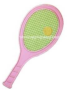 Tennis Racket Applique Design