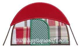 Tent Applique Design