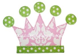 Tiara Applique Design