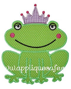 Tiara Frog Applique Design