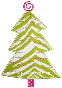 Tinsel Tree Applique Design