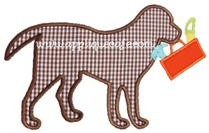 Dog with Toolbox Applique Design
