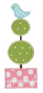 Topiary Applique Design