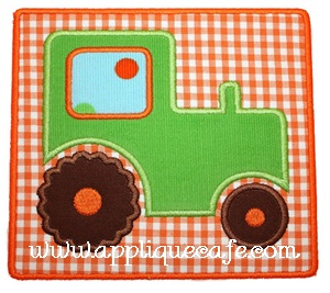 Tractor Patch Applique Design