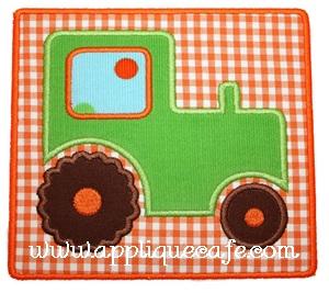 Tractor Patch Applique Design