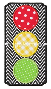 Traffic Light Applique Design