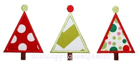Tree Trio Applique Design