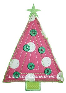 Triangle Tree Applique Design
