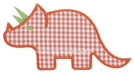 Triceratops Applique Design