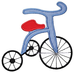 Tricycle Applique Design