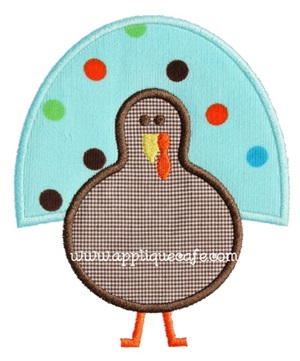 Turkey 9 Applique Design