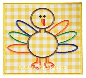 Turkey Patch Applique Design