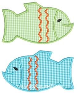 Two Fish Applique Design