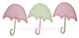 Umbrellas Applique Design