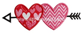 Valentine Arrow Applique Design