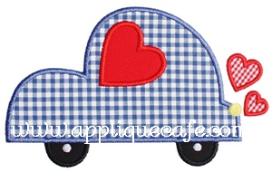 Valentine Car Applique Design