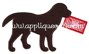 Valentine Dog 2 Applique Design