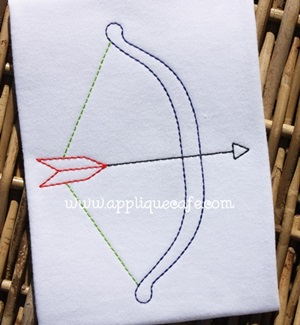 Vintage Bow and Arrow Embroidery Design