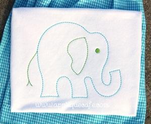 Vintage Elephant Embroidery Design