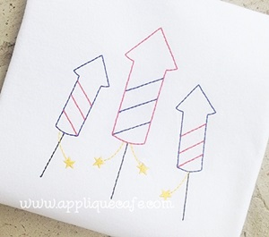 Fireworks 2 Embroidery Design
