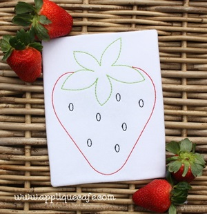 Vintage Strawberry Embroidery Design