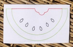 Vintage Watermelon Embroidery Design