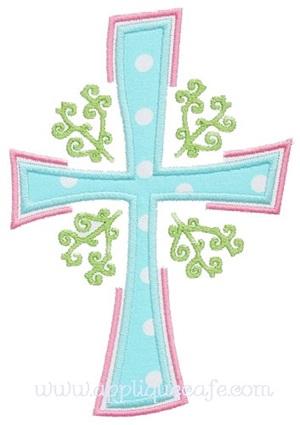 Virginia's Cross Applique Design