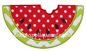 Watermelon 2 Applique Design