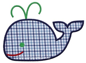 Whale 2 Applique Design