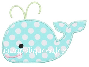 Whale 2 Applique Design